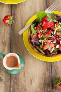 http://ohsheglows.com/2012/04/30/spring-salad-with-strawberry-lemon-basil-dressing/